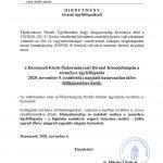 Hivatali ügyfélfogadás felfüggesztése